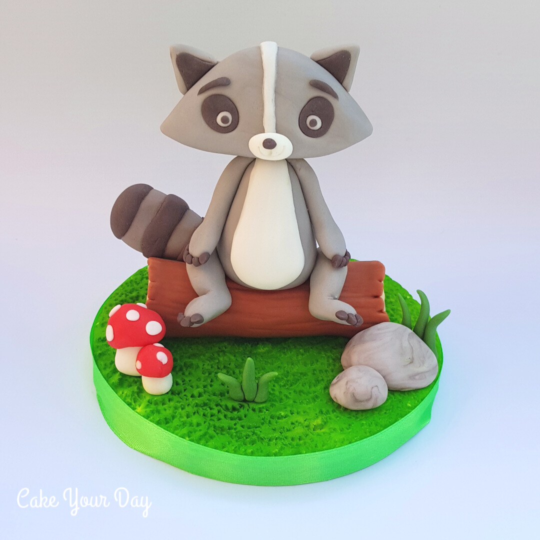 Raccoon by Cake Your Day